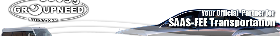 Airport transfer to Saas-Fee from Bern with Limousine / Minibus / Helicopter / Limousine